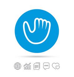 Baseball glove sign icon sport symbol vector