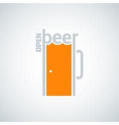 Beer mug door concept background vector