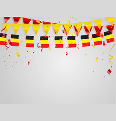 Belgium flags celebration background template vector