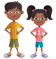 boy and girl indian vector image