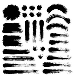 Brush strokes set 9 vector