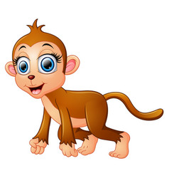 Cartoon funny monkey vector