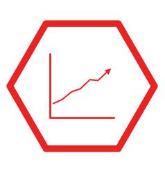 Chart and hexagon vector