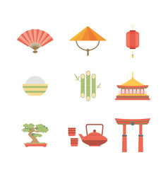 china flat icons design travel vector image