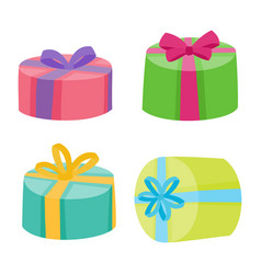 christmas or birthday presents collection vector image