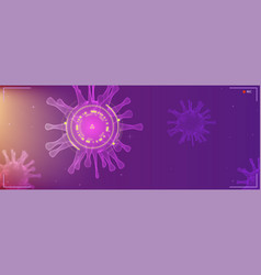 Close up view virus cells research hud screen vector