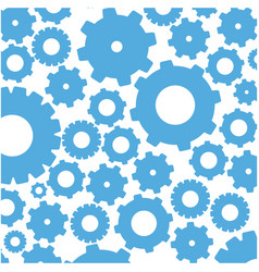 color pattern with gears and pinions vector image