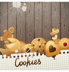 Cookies background vector
