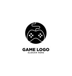Creative game logo design template vector