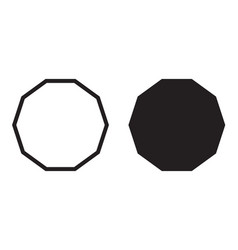 Decagon icon decagonal polygon vector