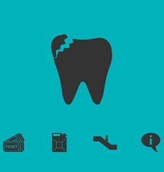 Dental problem icon flat vector