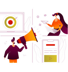digital marketing - modern flat design style vector image