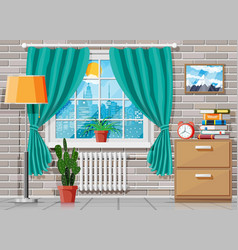 Domestic room interior vector