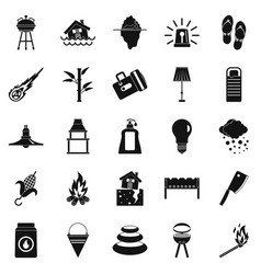 drought icons set simple style vector image