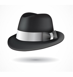 aba2f2f8c24ab Fedora hat isolated on white vector ...