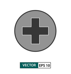 first aid medical icon isolated on white eps 10 vector image