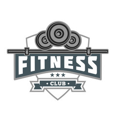 Fitness shield club image vector