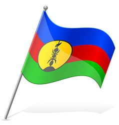 Flag of New Caledonia vector