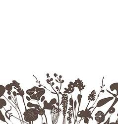 Florals black background vector