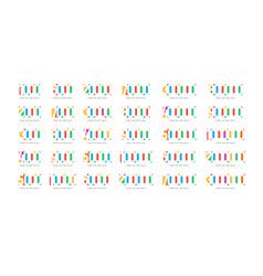 Followers number emblem set number vector
