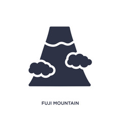 Fuji mountain icon on white background simple vector