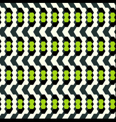 geometric seamless pattern in retro style vector image