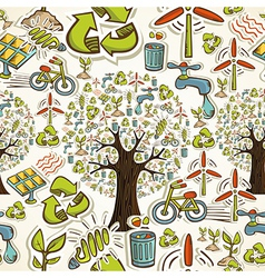 Go green icons seamless pattern vector