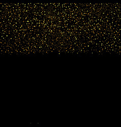 Gold glitter seamless border vector