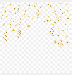 gold-plated serpentine and tinsel falls vector image