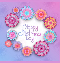 greeting card with flowers for mothers day in the vector image vector image
