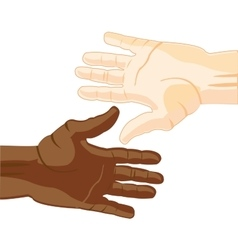 Hand european and african vector