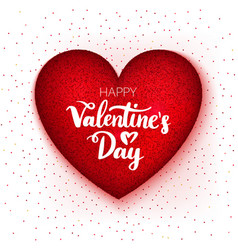 happy valentine day heart vector image