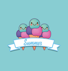 Hello summer design vector