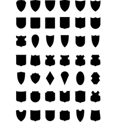 heraldic shields silhouettes vector image