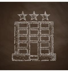 Hotel icon vector