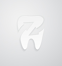 Icon protected around tooth vector