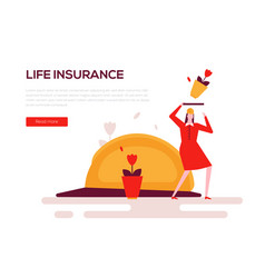 life insurance - colorful flat design style web vector image