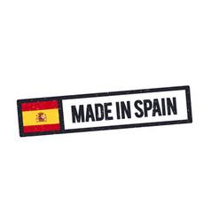 made in spain stamp with spanish flag vector image