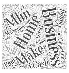 Make easy daily cash with a home based business vector