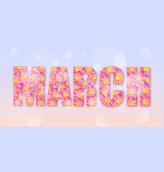 March month name vector