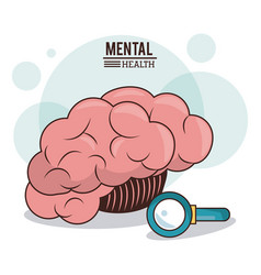 mental health human brain search innovation vector image
