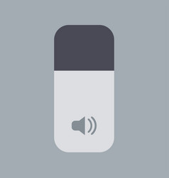 modern sound icon on gray background vector image