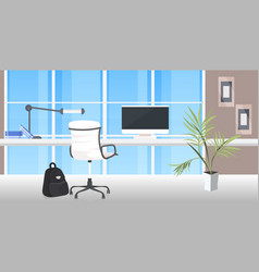 office workplace desk social distancing vector image