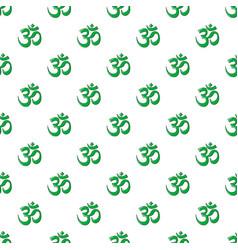 Om symbol hinduism pattern seamless vector