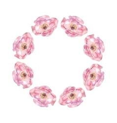 Pink flower watercolor vector image
