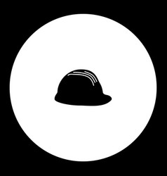 Protection helmet simple silhouette black icon vector