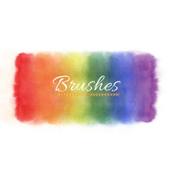 Rainbow watercolor stains abstract background vector
