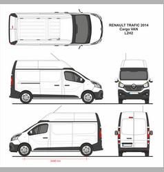 Renault trafic cargo delivery van l2h2 2014 vector