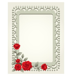 Roses Vintage Square Shape Frame and Border vector image