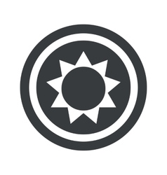 Round black sun sign vector